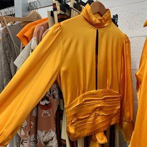 Tangerine Long sleeve Blouse